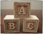 Full Set of Wooden Alphabet Blocks