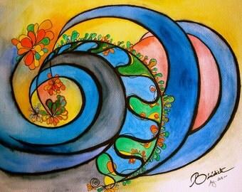 Flourishing wave