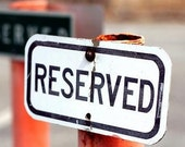 Reserved for Kate