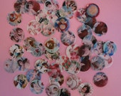 1 inch round Vintage Valentine Edible Image Wafer Paper for Cookies, Cupcake Toppers, Cakes and Chocolates
