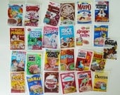 Vintage Cereal Box edible image mini wafer papers