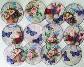 Beautiful Springtime Floral and Butterfly edible image wafer papers for your cookies, fondant or chocolates