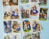 Alice in Wonderland Mini Edible Image Wafer papers for your cookies, cakes, cupcakes and chocolates