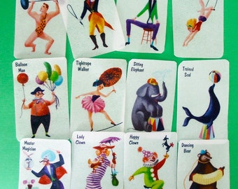 One dozen vintage circus edible image wafer paper for your cookies, fondant and chocolates