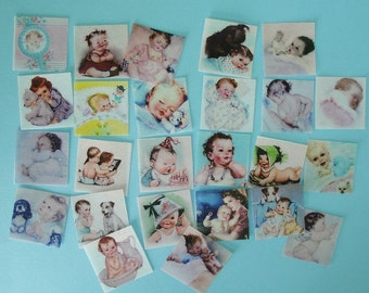 Vintage Baby edible image wafer paper for Baby Showers, to use on your cookies, fondant cupcake toppers, fondant cake or chocolates