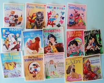 Vintage Children's Classic Book Edible Image Wafer Papers 14 images