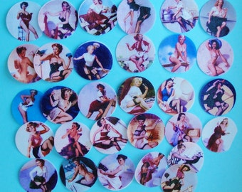 Va Voom Pin up girl edible image wafer papers for your cookies, cupcakes, chocolates or fondant
