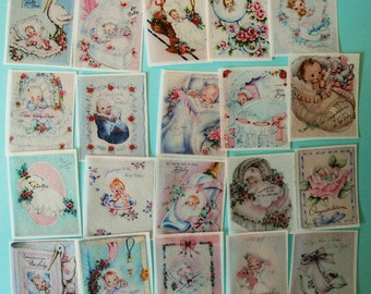 20 GORGEOUS Birth Announcement Edible Image Wafer Papers for your iced or fondant cookies, cakes, cupcakes or chocolates