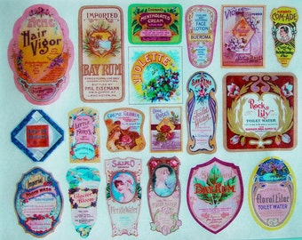 Vintage Perfume Bottle Label Edible Image Wafer Paper for your Cookies, Cake, Fondant, Cupcakes and Chocolate