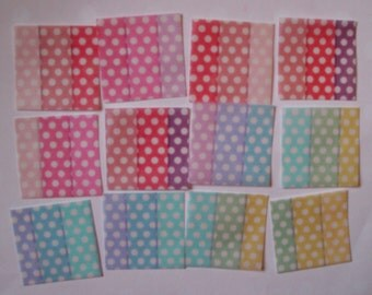 Polka Dot Rainbow Colors Edible Image Wafer Papers for your cookies, cupcakes, fondant, cake or chocolates