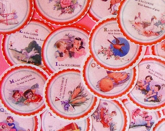 ABC Flashcard Edible Image Wafer Papers for your Iced cookies, fondant, cake, cupcakes or chocolate