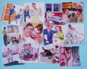 Retro Father's Day Edible Image Wafer Papers for your iced cookies, fondant, cupcake toppers, cakes and chocolates