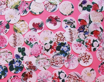 40 pieces of Vintage Floral Botanical Edible Image wafer papers for your iced cookies, cake, fondant, cupcakes or chocolates
