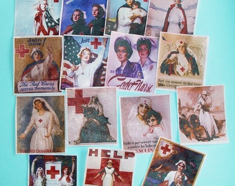 Nurse and Red Cross Edible Image wafer papers for your cookies, fondant, chocolates and cakes
