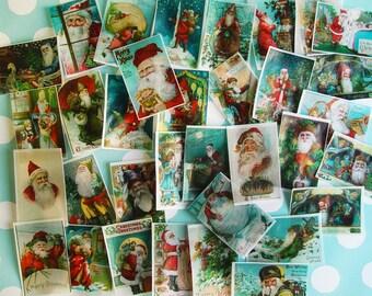 HUGE VALUE of 5 DOZEN Victorian Santa Claus  unique edible image wafer papers