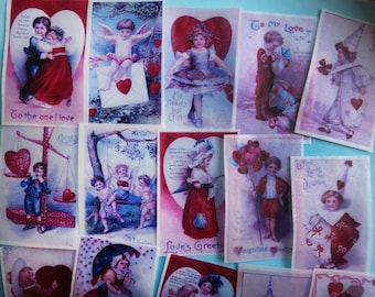 VALENTINE VALUE - 3 DOZ assorted large Victorian edible image wafer papers for your cakes, cookies, chocolates and baked treats