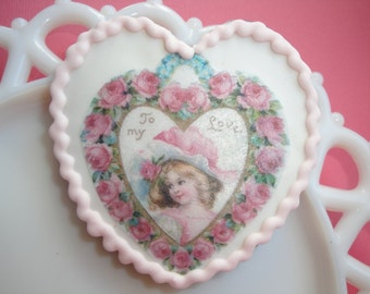 Vintage Valentine Hearts Wafer Papers and Edible Images 9