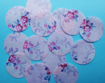 Vintage Roses Wall Paper full, uncut sheet of shabby chic edible image wafer paper for your cookies, cakes, chocolate and cupcakes