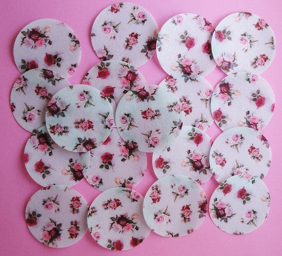 Shabby Chic Roses Edible Image Wafer Paper