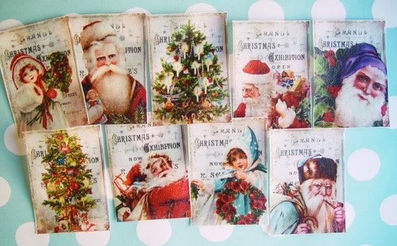 Old Fashioned Christmas Edible Image Wafer Papers for your iced cookies, fondant, chocolates and cake