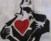 "CLEARANCE -- White ""Super Love"" t-shirt"