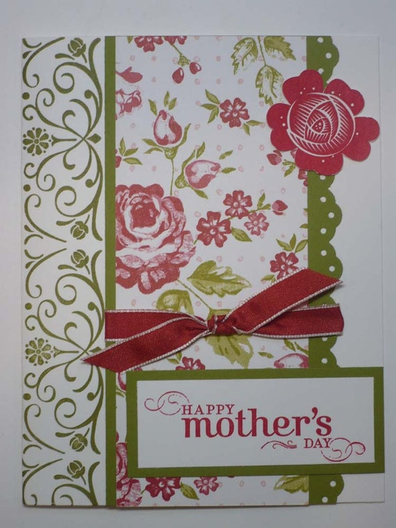 mothers rose handmade stampin up mothers day card