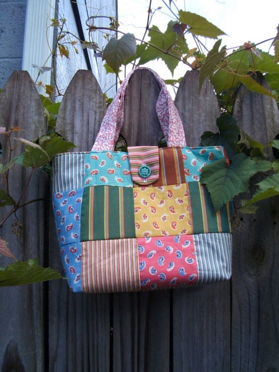 Upcycled Quilt Tote Bag