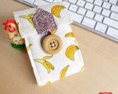 SALE of Early xmas ipod/iphone wallet (Sock Monkey - Banana)