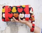 Foodie Goodie Zipper Clutch - Apple and Pear