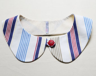 peterpan collar - colorful stripes  - multiple sizes