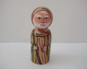 Nativity Play Set-Shepherd Wooden Doll - made to order