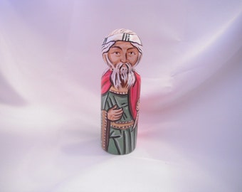 The Prophet Samuel Wooden - Catholic Saint Wooden Peg Doll Toy -  made to order