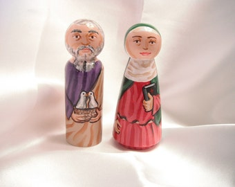 Saints Joachim and Anne Parents of Mary - Catholic Saint Dolls - made to order