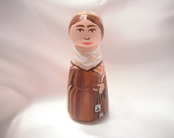 Our Lady of Mount Carmel - Catholic Saint Wooden Peg Doll Toy - made to order