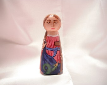 Saint Margaret of Antioch Catholic Saint Doll - made to order