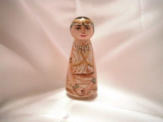 Queen Esther - Catholic Wooden toy - made to order