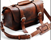 Custom Doctor Bag or Leather Bag for men  Professional bag in Full Grain - Mustang - The Goliath