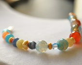 Gemstone Beaded Bracelet Faceted Agate Jade Glass Freshwater Pearls