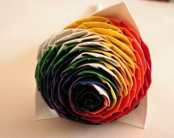 Twisted Duct Tape Rainbow Rose