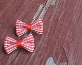 Cute upcycled vintage bow earrings
