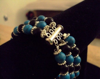 Turquoise and Blackstone Bracelet