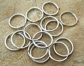 100 Split Key Rings Chrome Plated