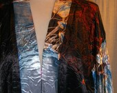 black silver blue plus size vintage style jacket hand dyed 25% off