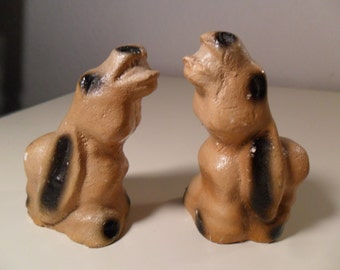 Vintage Donkey Salt and Pepper Shakers