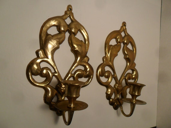 Brass Wall Sconces Candle Holders : Brass Candle Holder Wall Sconces