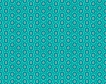Oval Elements Fabric in Blue Lagoon (OE-918) - Patricia Bravo for Art Gallery Fabrics - By the Yard