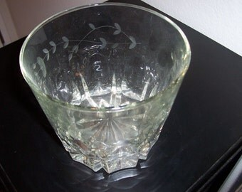Vintage Princess House Crystal Happy Hour Ice Bucket