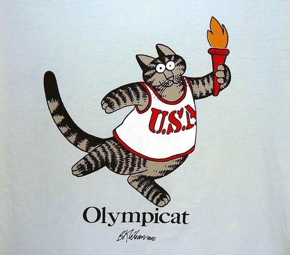 KLIBAN Crazy Shirts Hawaii Tshirt 1980's USA Olympics