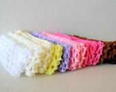 """Crochet Headbands 1.5"""".     Less than 50 cents each."""