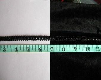 Black Beaded Gimp Trim  1 yard  (SM114)